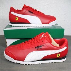 Puma Scuderia Ferrari Roma Red Sneakers Size 11